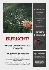 Impulsabende zum Willow Creek Kongress 2018 @ Evangelisch-methodistische Kirche Unteröwisheim