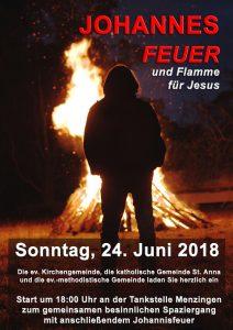 """Menzingen """"Johannes: Feuer und Flamme für Jesus"""" @ Treffpunkt Tankstelle Kraichtal-Menzingen"""